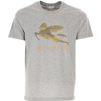 Etro T-Shirt for Men On Sale, Grey, Cotton, 2019, L M S