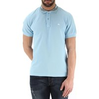 Etro Polo Shirt for Men On Sale in Outlet, Sky Blue, Cotton, 2017, M XXL