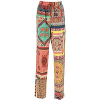 Etro Pants for Women On Sale, Red, Silk, 2019, 10 6 8
