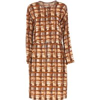 Fabiana Filippi Dress for Women, Evening Cocktail Party On Sale, Brown, viscosa, 2019, 12 14
