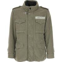 Fay Men's Coat On Sale, Military Green, Cotton, 2019, L M