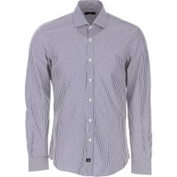 Fay Shirt for Men On Sale, Blue Navy, Cotton, 2021, 15.5 16.5