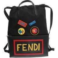 Fendi Backpack for Men On Sale, Black, Nylon, 2019