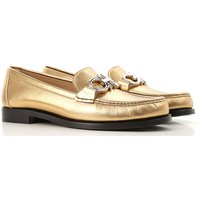 Salvatore Ferragamo Loafers for Women On Sale in Outlet, Gold, Leather, 2021, 2.5 3