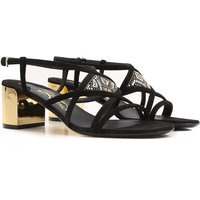 Salvatore Ferragamo Sandals for Women On Sale in Outlet, Black, Suede leather, 2017, 3 4.5