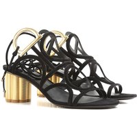 Salvatore Ferragamo Sandals for Women On Sale in Outlet, Black, suede, 2021, 6