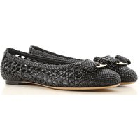 Salvatore Ferragamo Ballet Flats Ballerina Shoes for Women On Sale in Outlet, Black, Leather, 2019,