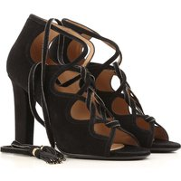 Salvatore Ferragamo Sandals for Women On Sale in Outlet, Black, Suede leather, 2017, 3.5 4 4.5 5.5