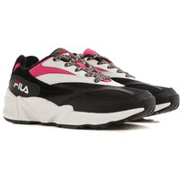 Fila Sneakers for Women On Sale in Outlet, Black, Leather, 2019, 4 6 7