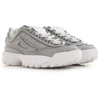 Fila Sneakers for Women On Sale in Outlet, Glitter Silver, Leather, 2019, 3.5 5 5.5
