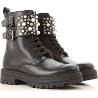 Florens Kids Shoes for Girls, Black, Leather, 2019, 31 32 33 34 35 36 38