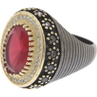 Francesca Angelone Ring for Women On Sale, Black, Silver 925, 2019