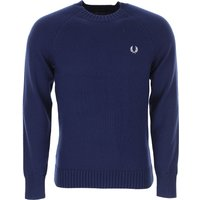 Fred Perry Sweater for Men Jumper On Sale, French Navy, Wool, 2019, L M S