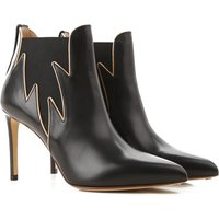Francesco Russo Boots for Women, Booties On Sale in Outlet, Black, Leather, 2019, 5.5 6 7.5
