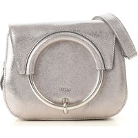 Furla Shoulder Bag for Women On Sale, Silver, Leather, 2019
