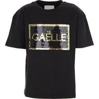 Gaelle Camiseta para Niña Baratos en Rebajas, Negro, Algodon, 2019, 10Y 12Y 14Y 16Y 6Y
