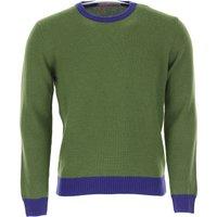Gallo Sweater for Men Jumper, Musk Green, merino wool, 2019, M S