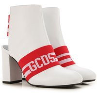 GCDS Boots for Women, Booties On Sale, White, Leather, 2019, 3.5 4.5 5.5 6.5 7.5
