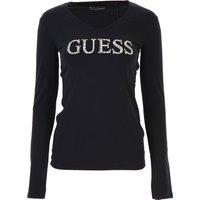 Guess T-Shirt for Women, Black, Cotton, 2019, 12 14