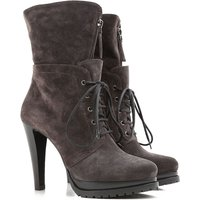 Giorgio Armani Boots for Women, Booties On Sale in Outlet, Dimgray, Suede leather, 2017, 5 6 6.5