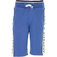 Givenchy Kids Shorts for Boys On Sale, Blue, Cotton, 2019, 12Y 4Y