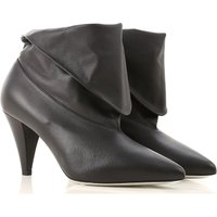 Givenchy Boots for Women, Booties On Sale in Outlet, Black, Leather, 2019, 4.5 5.5