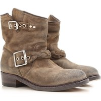 Golden Goose Boots for Women, Booties On Sale in Outlet, Military Green, Suede leather, 2019, 4.5 5.