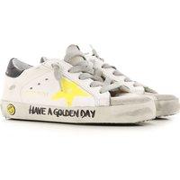 Golden Goose Zapatos para Niño Baratos en Rebajas, Blanco, Piel, 2019, 28 29 30 31 32 33 34