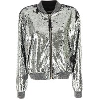 Golden Goose Jacket for Women On Sale, Silver, polyester, 2019, 6 8