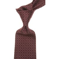Gucci Ties On Sale, Oxblood Red, Silk, 2019