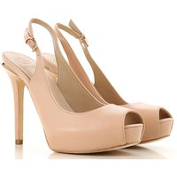 Guess Peep Toe Open Shoes & Heels On Sale in Outlet, Natural, Leather, 2019, 4.5 5.5