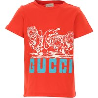Gucci Kids T-Shirt for Girls On Sale, Bright Red, Cotton, 2019, 4Y 8Y