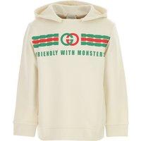 Gucci Kids Sweatshirts & Hoodies for Boys On Sale, White, Cotton, 2019, 10Y 6Y 8Y