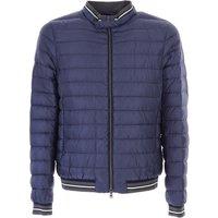 Herno Down Jacket for Men, Puffer Ski Jacket, Night Blue, polyamide, 2017, L M XL XXL