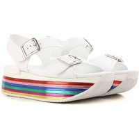 Hogan Sandals for Women On Sale, White, Leather, 2019, 5.5 7.5