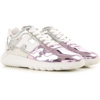 Hogan Sneakers for Women, Silver, Mirror Leather, 2019, 3.5 4 4.5 5.5 6 6.5 7.5 8.5