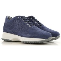 Hogan Sneakers for Women, Baltic Blue, Suede leather, 2019, 6.5