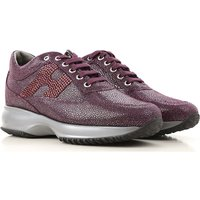 Hogan Sneakers for Women, Eggplant Violet, Suede leather, 2019, 3 3.5 4 4.5 6 6.5 7.5