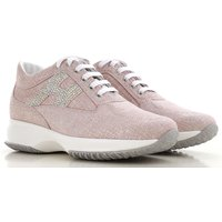 Hogan Sneakers for Women On Sale, Pink, Suede leather, 2019, 6 6.5