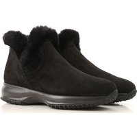 Hogan Boots for Women, Booties, Black, Suede leather, 2019, 2.5 3 3.5 4 4.5 5.5 6 6.5 7.5