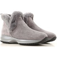 Hogan Boots for Women, Booties On Sale, Tar, Suede leather, 2021, 2.5 3.5 4 4.5