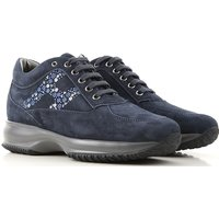 Hogan Sneakers for Women On Sale, Midnight Blue, Suede leather, 2019, 4 7.5