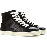 Hogan Sneakers for Women On Sale in Outlet, Rebel, Black, suede, 2019, 2.5 7.5