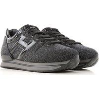 Hogan Sneakers for Women On Sale, Black, Glitter Leather, 2019, 3 3.5 6 7.5