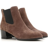 Hogan Chelsea Boots for Women On Sale in Outlet, Pipe Brown, Suede leather, 2017, 2.5 3.5 4 5 5.5