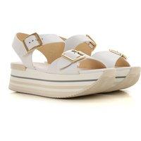 Hogan Sandals for Women, White, Leather, 2019, 3.5 4 4.5 5.5 6