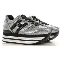 Hogan Womens Shoes, Silver, Leather, 2019, 2.5 3 3.5 4 4.5 5.5 6 6.5 7.5