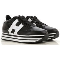 Hogan Sneakers for Women On Sale, Silver, Leather, 2019, 6.5 7.5 8.5