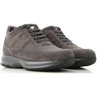 Hogan Sneakers for Men On Sale, Anthracite Grey, Suede leather, 2019, 10 5 6