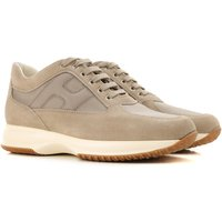 Hogan Sneakers for Men On Sale in Outlet, Gray Taupe, Suede leather, 2019, 10 9.5